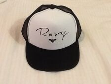 NEW ROXY Snapback Foam/Mesh Trucker Black & White Hat ~ Free Shipping