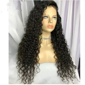 8A 250 density Unprocessed brazillian curly Human hair Transparent Full Lace wig