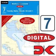 DK digital Satz 7, Mittelmeer - Adria 1, Kroatien # PC Seekarte CD 9783667105875
