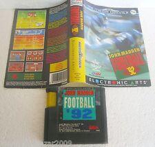JOHN MADDEN FOOTBALL '92 (1991) SEGA MEGA DRIVE SYSTEM VINTAGE
