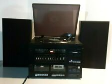 Vintage 1980s Jc Penney Record Player Dual Cassette Tape Deck With Speakers