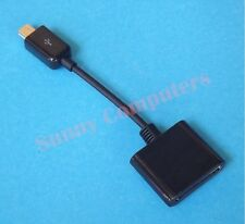 Mini B 5P USB Male to Apple iPhone iPad 30Pin Female Connector Adapter Black