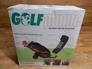 VINTAGE GOLF BAG TELEPHONE GOLF CLUBS PHONE- BONDWELL - NEW