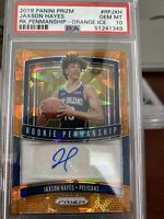 2019 Panini Prizm Jaxson Hayes Orange Ice Auto Rookie PSA 10. 9 POP!! Pelicans