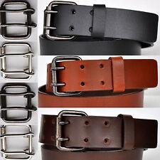 4mm Grueso Completamente Cuero Fuerte Cinturón Hebilla, Color Y Largo a Elegir