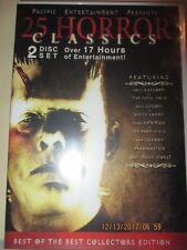 25 Horror Classics (DVD, 2011, 2-Disc Set) Horror Cult Movies