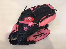 "Rawlings Girls Rule Lightning Series LS95P 9.5"" Baseball Glove Lights Up! RHT"