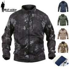 TYPHON Tactical Mens Jacket Lightweight Quick Dry Anti-UV Breathable Waterproof