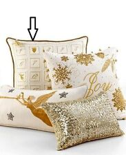 70%off Martha Stewart Golden Calendar Square Embroidered Decorative Pillow- $100