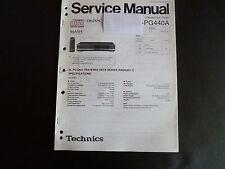Original Service Manual  Technics  Compact Disc Player SL-PG440A