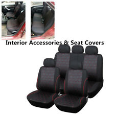 Ball Style Front Bucket Rear Bench Car Seat Cover Headrest Covers for 5-seat Car