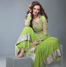 Anarkali Parrot Green Suit  bollywood indian dress (Salwar Kameez)