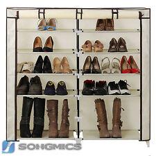 Songmics Armoire/étagères À Chaussures 7 couches Housse 36 paires de Crème...