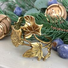 Ivy Leaf Leaves Design Gold Napkin Rings Holders Wedding Party Christmas Table