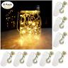 Battery Powered Mason Jar Lantern Lights 8 Pack Warm White 20 Led String Fairy
