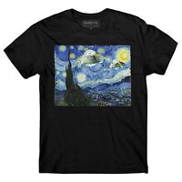 UFO t shirt, Vincent Van Gogh, Starry Night t shirt,  Area 51,