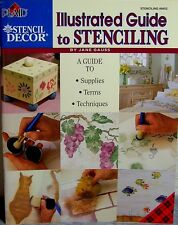 """Plaid """"Illustrated Guide to Stenciling"""" Book: Supplies-Terms-Techniques -Projects"""