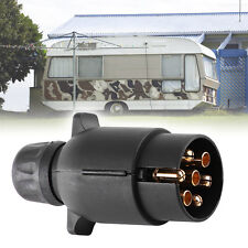 12V 7 Pin Tow Truck Electric Trailer Plug Plastic Wiring Connector Adapter Black