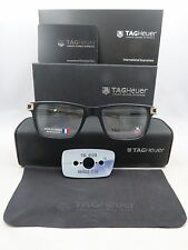 Tag Heuer TH 7603 008 Matte Black New Authentic Eyeglasses 50/17/145mm w/Box