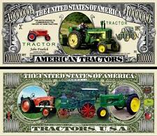 American Tractor Million Dollar Bill Collectible Fake Funny Money Novelty Note