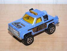 Majorette Depanneuse Chevy K10 Pickup Truck Blue 1:64