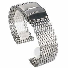 Classic 22mm Stainless Steel Band Shark Mesh Watch Strap