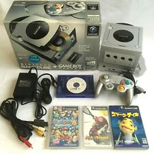 Lot Nintendo Gamecube Enjoy Plus Pack Gameboy Player Console + 3 Games Set Japan