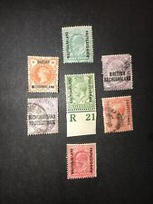 STAMPS - BC QV & KG5 BECHUANALAND PROTECTORATE M/U MIX COND & VALS ALL SHOWN