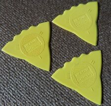 3 - Herdim Triple Sided Nylon Guitar Pick Yellow- MADE IN GERMANY