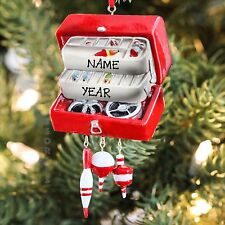 Kurt Adler TACKLE BOX Christmas Tree Ornament For Personalization New