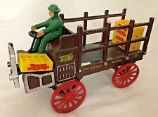 """Cast Iron 4.5X10"""" Pepsi-Cola Delivery Truck with Driver & Crates - 7 Pieces"""