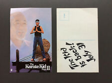 THE KARATE KID PART II Postcard Movie Collectable Very Good Condition RARE
