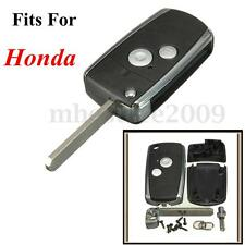 2 Buttons Flip Remote Key Fob Case Shell For Honda Civic CRV Jazz Accord Odyssey