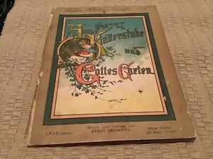 Vintage Antique German Children's Book 1883 Aus Kinderstube Goettes