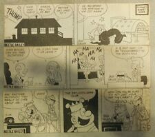 (111) Beetle Bailey by Mort Walker Dailies from 8/21-12,1977 Size: 2 x 8 inches