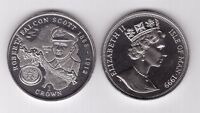 ISLE OF MAN – 1 CROWN UNC COIN 1999 YEAR ROBERT SCOTT RACE TO SOUTH POLE