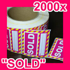 "2000 ""SOLD"" REMOVABLE sticker/label GST INCLUDED (2 rolls)"