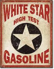 White Star Gasoline USA Tankstellen Metall Werbung Schild im Vintage Design