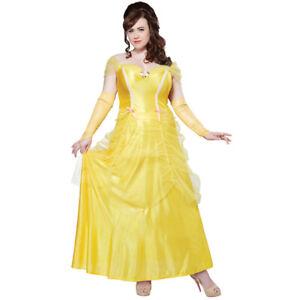 Classic Beauty Womens Plus Size Costume Adult Belle Beast Disney Princess
