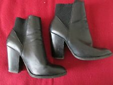 F&F - BLACK , ELASTIC  ABOVE ANKLE LENGTH BOOTS Size 39 EURO