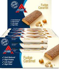 Atkins Chocolate Fudge Caramel, Low Carb, High Protein Snack Bar, 16 x 60g Bars