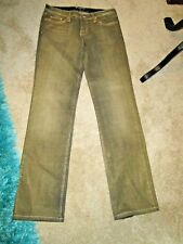 PLASTIC BY GLY GOLD/ GREEN SZ 7 JEANS * STYLE #1334 * MADE IN USA * STRETCH *
