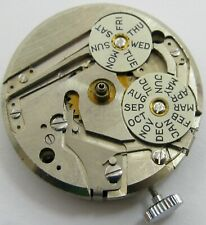 watch movement 17 j. for parts As 1380 day date month calendar Louvic