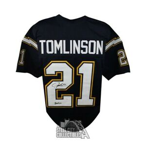 LaDainian Tomlinson Autographed Chargers Custom Navy Football Jersey HOF 17 JSA