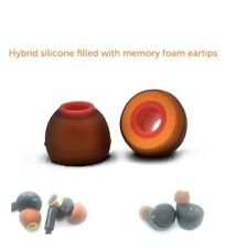More details for symbio ws wide bore silicone+memory foam spec. hybrid universal ear tips red ed