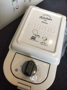 New!! Bruno Hot Sand Maker Snoopy PEANUTS 3 plate BOE068-ECRU from Japan 38