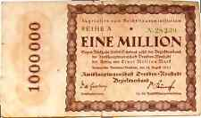 1923 Germany DRESDEN 1000000 / 1 Million Mark Banknote