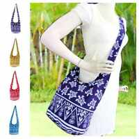 Fully Lined Sea Turtle Crossbody Handbag Thai Hippie Hobo Sling Boho Bag Purse