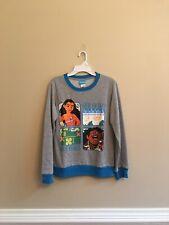 Disney Moana Girls Sweat Shirt Color Gray/Blue Size XL NWT