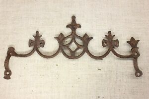 """old Widow's Walk architectural finial fence top rusty iron gothic 13"""" vintage"""